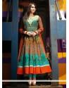Phenomenal Orange Cotton Anarkali Salwar Suit