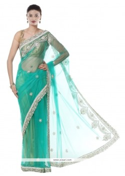 Lordly Net Resham Work Designer Saree