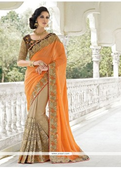 Talismanic Georgette Embroidered Work Designer Saree