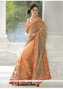 Gorgonize Zari Work Net Designer Saree
