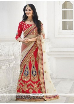 Extraordinary Resham Work Lehenga Saree