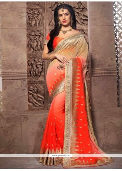Scintillating Georgette Designer Saree