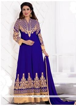 Praiseworthy Blue Anarkali Salwar Kameez