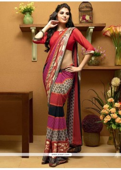 Modern Multicolor Shaded Georgette Saree