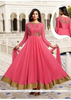 Astounding Silk Anarkali Salwar Kameez