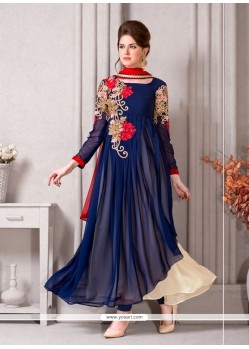 Amusing Georgette Resham Work Designer Suit
