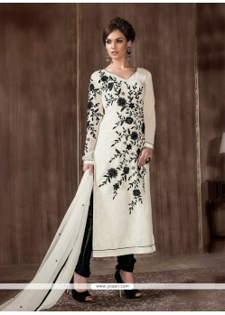 Beautiful Georgette Off White Designer Suit