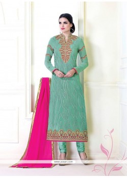 Energetic Georgette Designer Suit