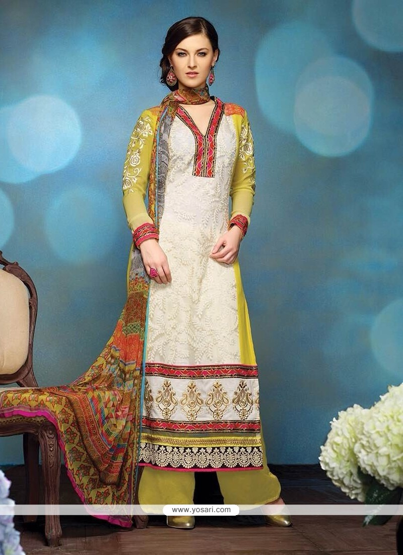 Multicolor Pure Georgette Pakistani Salwar Kameez