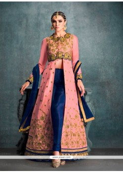 Flawless Embroidered Work Banglori Silk Designer Suit