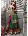 Fab Sea Green Net Anarkali Suit