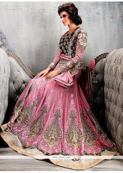 Hot Pink Georgette Anarkali Suit