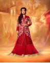 Dia Mirza Red Net Wedding Lehenga Choli