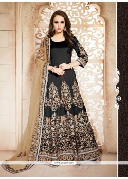 Appealing Black Designer Floor Length Suit