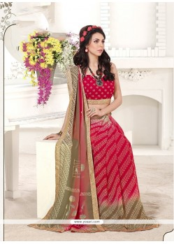 Mesmerizing Georgette Multi Colour Printed Saree