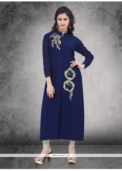 Exquisite Weight Less Embroidered Work Party Wear Kurti