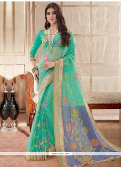 Lovable Silk Print Work Printed Saree