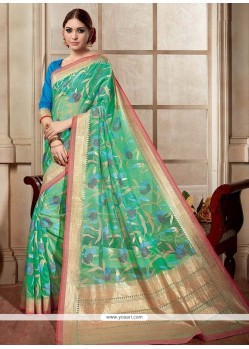 Savory Silk Sea Green Casual Saree