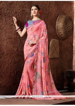 Refreshing Georgette Multi Colour Printed Saree