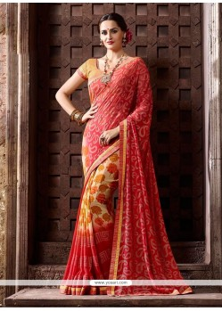 Striking Georgette Casual Saree