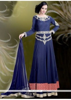 Integral Net Embroidered Work Readymade Gown