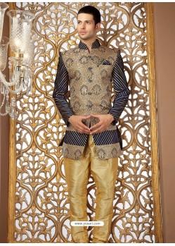 Stylish Banarasi Jamewar Silk Sherwani