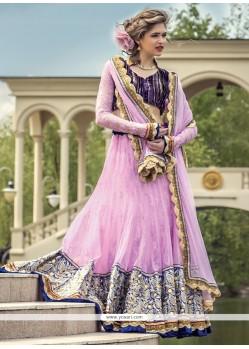 Genius Lavender Net Lehenga Choli