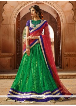 Marvelous Green Net Designer Lehenga Choli