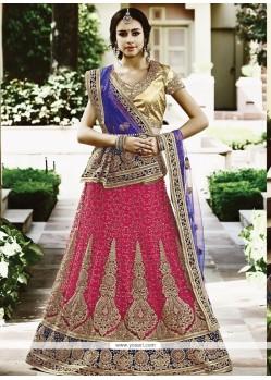 Pleasing Rose Pink Lehenga Choli