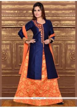 Astounding Dupion Silk Resham Work Lehenga Choli