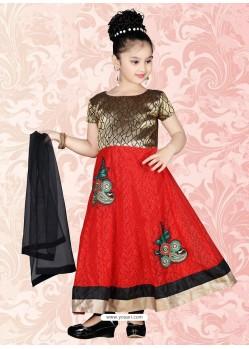 Classy Black Art Silk Salwar Kameez