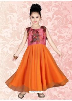 Awesome Orange Readymade Salwar Kameez