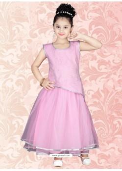 Festive Pink Thread work Salwar Kameez