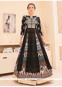 Gauhar Khan Embroidered Work Designer Floor Length Suit