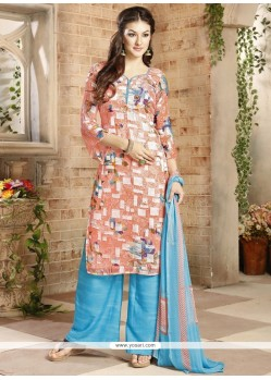 Angelic Multi Colour Brasso Georgette Palazzo Suit