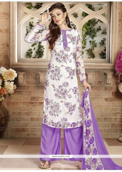Gripping Multi Colour Print Work Palazzo Suit