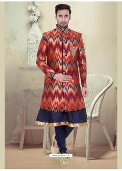 Dashing Brown Churidar Sherwani