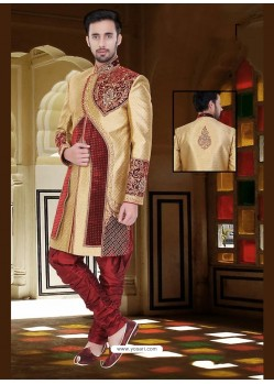 Incredible Beige Wedding Sherwani