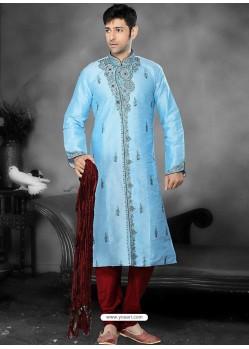 Perfect Blue Readymade Kurta Pajama