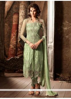 Riveting Faux Georgette Designer Straight Suit