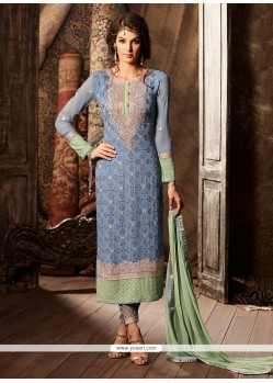 Classy Embroidered Work Designer Straight Suit