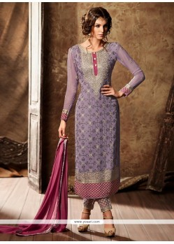 Awesome Faux Georgette Designer Straight Suit