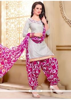 Perfervid Grey Punjabi Suit