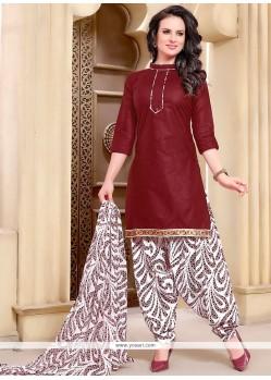 Enchanting Cotton Punjabi Suit