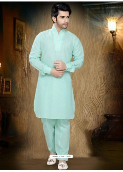 Incredible Bishop Sleeves Green Readymade Kurta