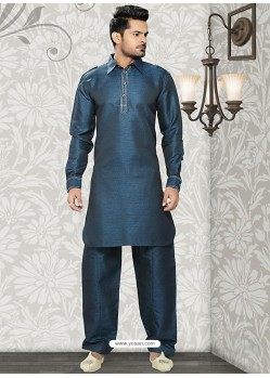 Enchanting Blue Men's Readymade Kurta