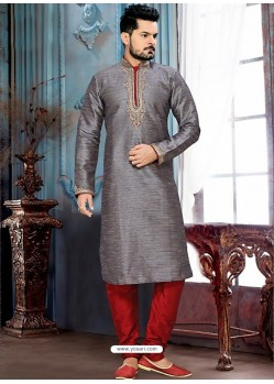 Astonishing Grey Readymade Kurta