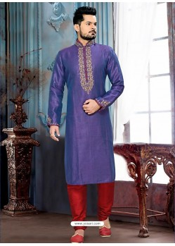Exclusive Purple Art Silk Kurta