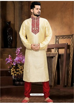 Enhancing Art Silk Cream Kurta