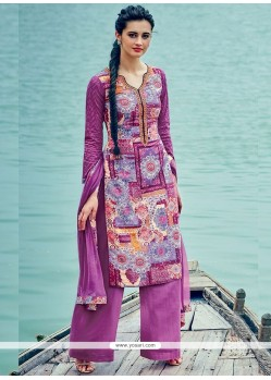 Ideal Purple Palazzo Suit